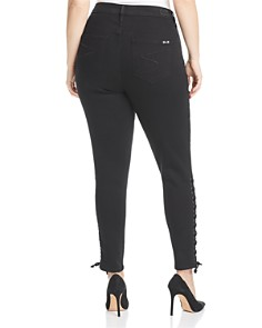 Seven7 Jeans Plus - Lace-Up High Rise Skinny Jeans in Virtual