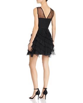 BCBGMAXAZRIA - Eve Embellished Illusion Dress