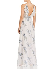 WAYF - Emma Floral Ruffle Wrap Dress