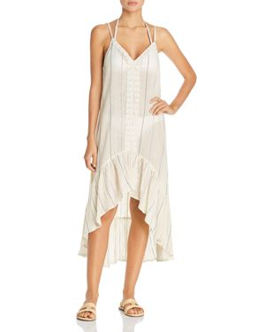 Surf Gypsy Sunset Stripe Dress Swim Cover-Up
