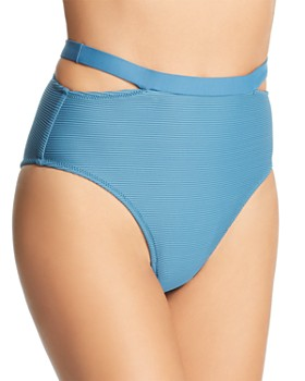 Vitamin A - Coco High-Waist Cutout Bikini Bottom