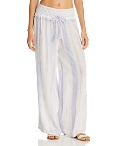 Surf Gypsy - Woven Stripe Wide-Leg Swim Cover-Up Pants