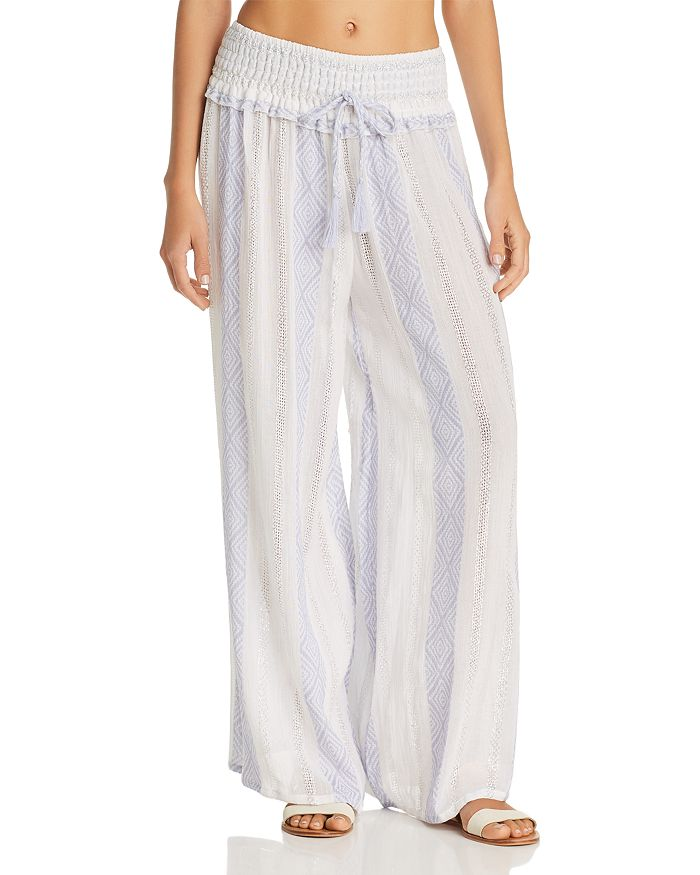 f5f1aea85e Surf Gypsy Woven Stripe Wide-Leg Swim Cover-Up Pants | Bloomingdale's