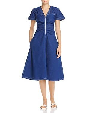 Paper London Carmela Zip Front Dress