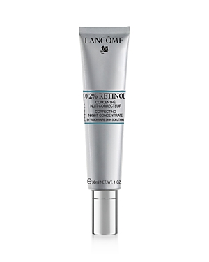 What It Is: A nighttime retinol treatment combining 0.2% Retinol with Jasmonate Derivatives to improve the appearance of fine lines and deep wrinkles. What It Does: For the first time, Lancome Laboratories combined its Jasmonate derivative with 0.2% pure Retinol, to create a formula that aims to transform the look of skin. This concentrate is much more than an anti-wrinkle serum, it\\\'s capable of revealing near perfect looking skin. This formula helps to soften the appearance of fine lines and im