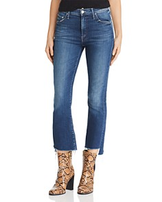 MOTHER - Insider Cropped Step-Hem Fray Straight-Leg Jeans in Turn Of The Tide
