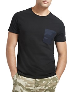 ATM Anthony Thomas Melillo - Mixed-Media Contrast-Pocket Tee