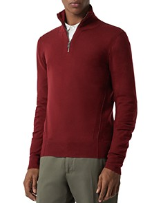 Burberry - Connor Seamed Half-Zip Sweater