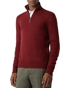 Burberry - Connor Seamed Half-Zip Sweater