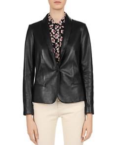 Gerard Darel - Susie Shawl Collar Leather Blazer