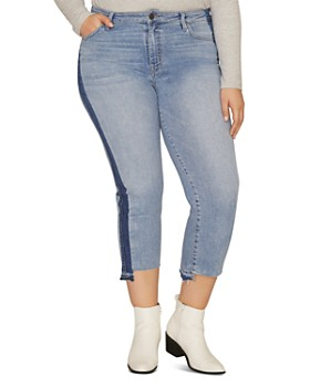 Sanctuary Curve - Modern High Rise Cropped Jeans in Split Prosperity Navy