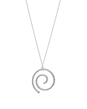 Argento Vivo Spiral Rope Pendant Necklace in Sterling Silver, 34