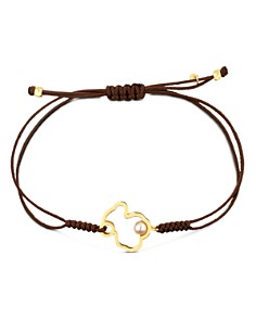TOUS - 18K Yellow Gold Silueta Cultured Freshwater Pearl Bear Cord Bracelet