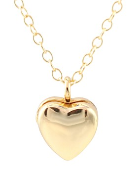 """Kris Nations - Heart Locket Pendant Necklace in Gold-Plated Sterling Silver & Sterling Silver, 16"""""""