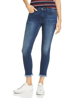 FRAME - Le Skinny De Jeanne Micro Shredded-Hem Jeans in Cantine