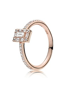 PANDORA - Rose Gold Tone-Plated Sterling Silver & Cubic Zirconia Luminous Ice Ring