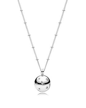 "PANDORA - Sterling Silver & Cubic Zirconia Moon & Stars Pendant Necklace, 23.62"""