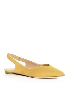 Sigerson Morrison - Women's Sunshine Slingback Pointed-Toe Flats