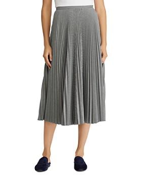 Ralph Lauren - Pleated Geo Print Midi Skirt