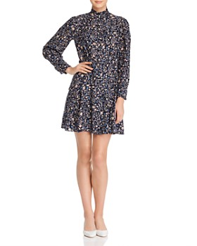 Rebecca Taylor - Vivianna Silk Floral-Print Shirt Dress