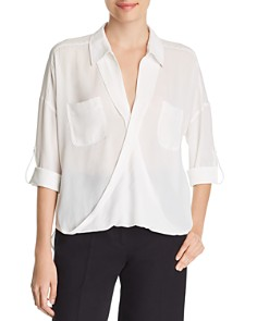 Marled - Crossover-Front Blouse