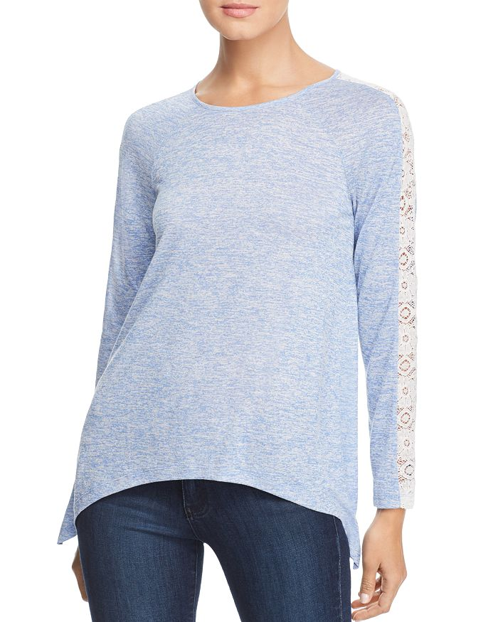Design History - Lace Inset Space-Dye Top