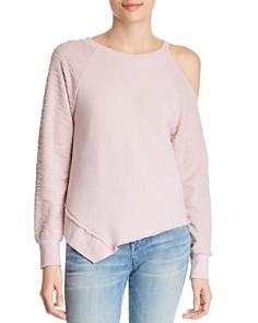 Red Haute - Asymmetric Cold-Shoulder Sweatshirt