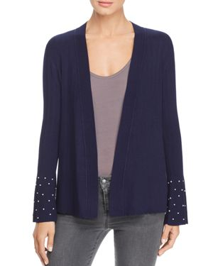 DESIGN HISTORY Faux-Pearl Cuff Cardigan in Starry Night