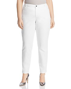 Lafayette 148 New York Plus - Curvy Slim Jeans in White