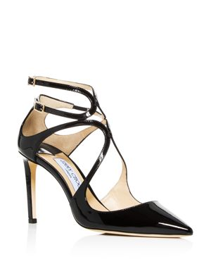 Jimmy Choo Women's Lancer 85 Strappy Pointed-Toe Pumps