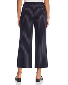 Eileen Fisher Petites - Pinstriped Wide-Leg Ankle Pants