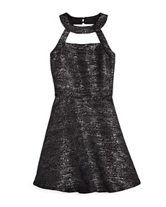 Miss Behave - Girls' Harper Halter-Neck Dress - Big Kid