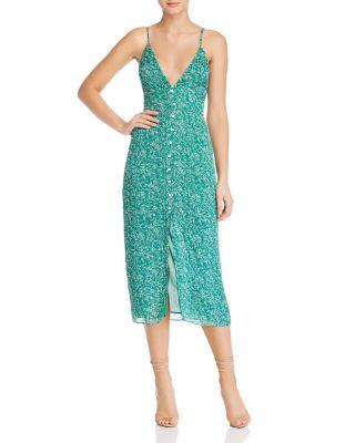Gizele Botanical Print Midi Dress by The East Order