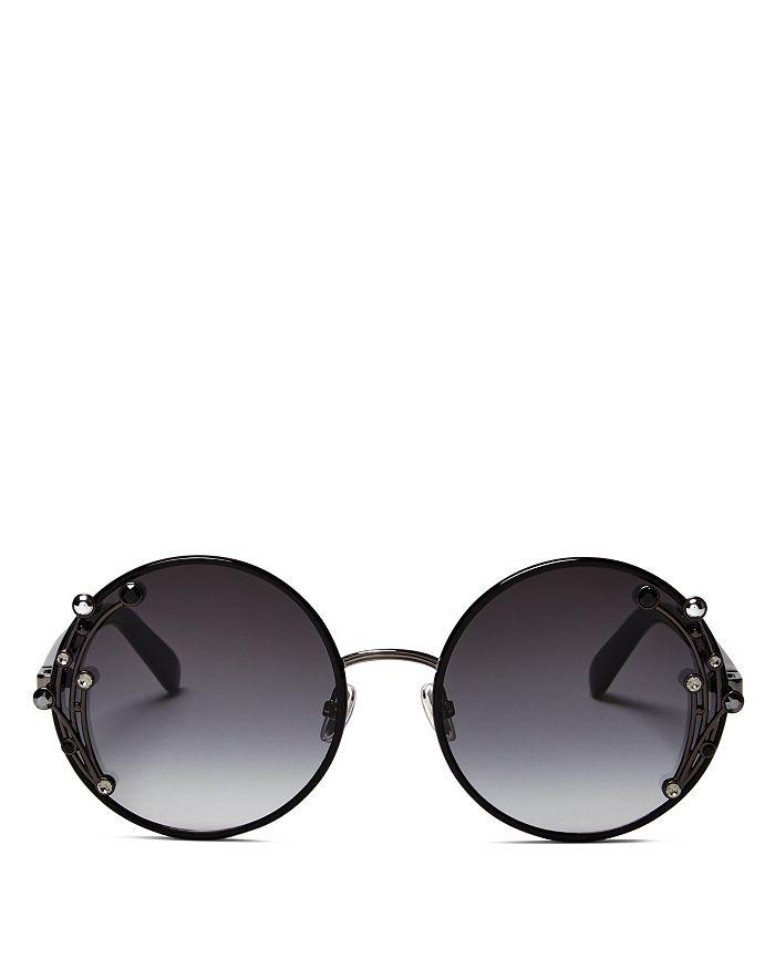 29ab88e3c576 Jimmy Choo Women's Gema Embellished Round Sunglasses, 59mm ...
