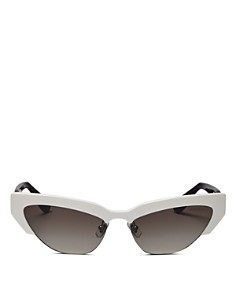 Miu Miu - Women's Mirrored Cat Eye Sunglasses, 59mm