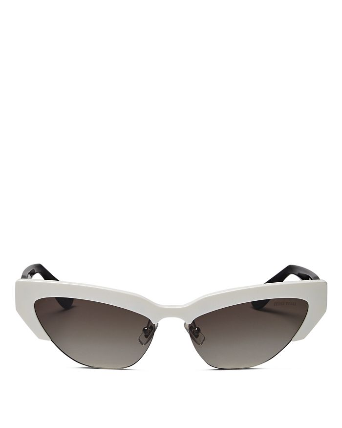 Miu Miu - Women's Mirrored Cat Eye Sunglasses, 59mm
