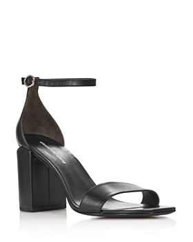 d88ba2b55ab7 Alexander Wang - Women s Abby Leather Block Heel Sandals ...