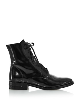Freda Salvador - Women's Patent-Leather Combat Boots