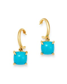 Bloomingdale's - Turquoise Drop Earrings in 14K Yellow Gold - 100% Exclusive
