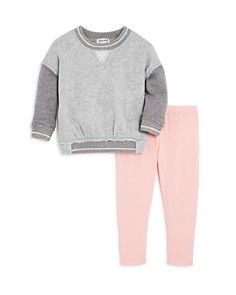 Splendid - Girls' Layered-Look Sweatshirt & Leggings Set - Baby