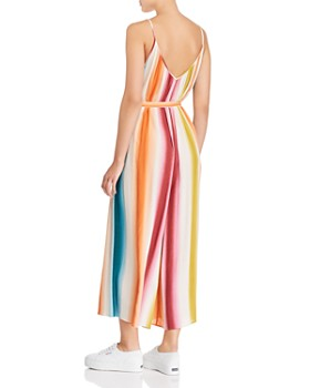 AQUA - Rainbow-Stripe Wide-Leg Jumpsuit - 100% Exclusive