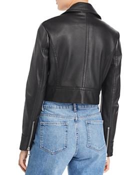 6ee9488e52 ... AQUA - Cropped Leather Moto Jacket - 100% Exclusive