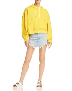 SJYP - Cropped Cotton Hoodie