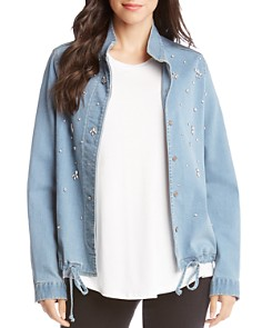 Karen Kane - Embellished Denim Jacket