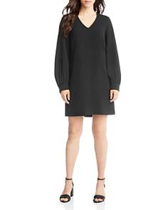 Karen Kane - Blouson-Sleeve Crepe Shift Dress