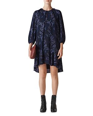 Whistles Renata Reed Print Dress