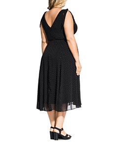 City Chic Plus - Alika Pindot Midi Dress