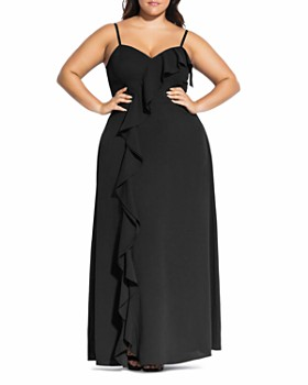 fedb0f51a1347 City Chic Plus - Catalina Ruffle Gown ...