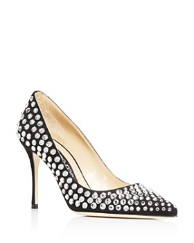 Sergio Rossi - Women s Stoned Pointed-Toe Pumps ... d1675c55d336