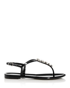 Sergio Rossi - Women's Embellished Thong Sandals